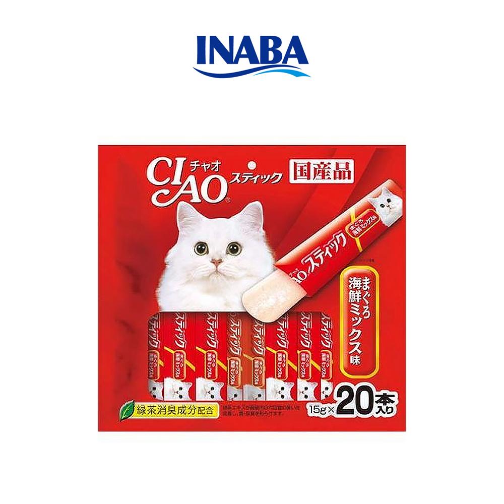 이나바 챠오츄르 젤리 고양이 간식 참치 해물믹스