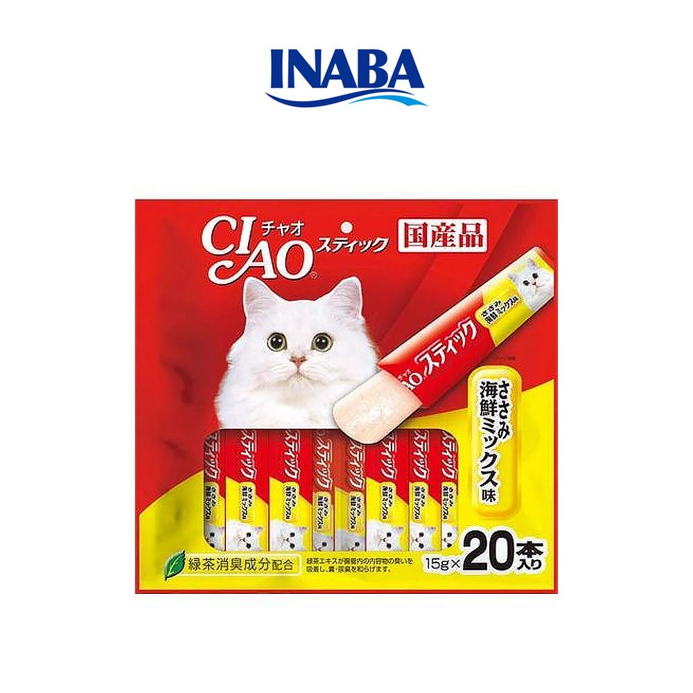 이나바 챠오츄르 젤리 고양이 간식 닭가슴살 해물믹스